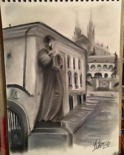Pohled na Petrov z Kapucínského náměstí.