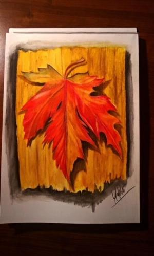 Podzimní list.